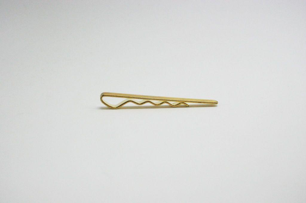 spona kravatová s vlnkou 5x62mm, surová